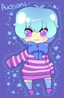 Blue and Purple Adoptable Girl by Roespls