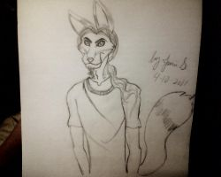 My Friend Zack's Fursona by WolfMagick666