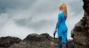 Zero Mission: Zero Suit Samus by HayleyElise