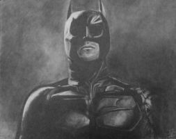 The Dark Knight (portrait) by digitalcc