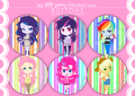 My Little Pony Buttons by Nutmegnog