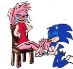Sonic tickles Amy by alexiaNBC
