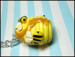 Beehive Necklace by GrandmaThunderpants