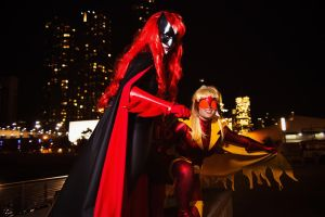 Batwoman and Flame Bird - Batwoman by Mostflogged