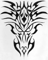 Tribal Dragon Tat by BathedInSin