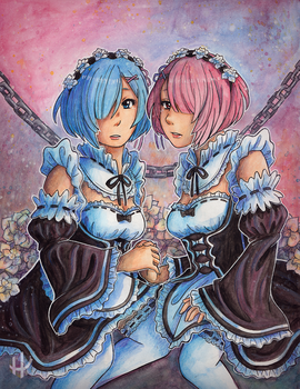 Rem and Ram by Fuugis