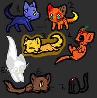 Adoptablez 12: OPEN (2/7) by Tinyclawthecat