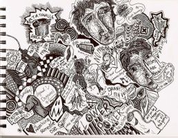 Extraordinary Doodle Page by darkmold