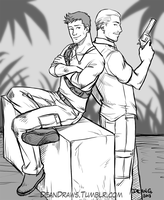 Commission - Nate and Sully by DeanGrayson