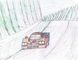 Cauto CMR1 Nissan at Le Mans by K9RASArt