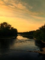 Sunset and River by SEnigmaticX