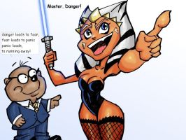 ahsoka and her  new master by clc1997