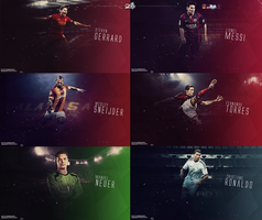 Football Players wallpaper series by AlpGraphic13