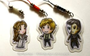 PoTO: Christine, Raoul, and Phantom Charms by WithSkechers