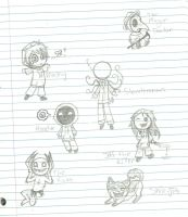 Creepypasta Chibis by RoomsInTheWalls