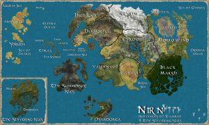 Map of Tamriel by ViolentColorRoses