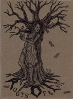 The Tree of Evil 'tattoo comission' by Deorse