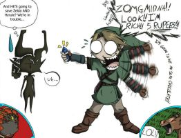 Link and Midna funny by shorty-antics-27