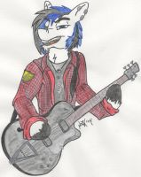 Scotch playing the Bass - color by ScotchMacManus