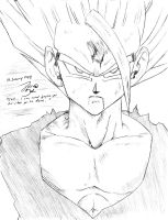 SSJ2 Gohan, No Reference Sketch Practice by GoxGo