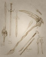 Weapon Designs by raerae