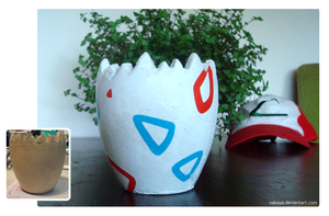 Togepi Plant Pot by NaKaya