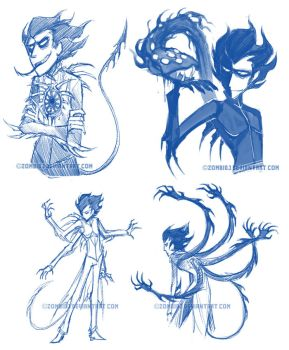 Shadow Conjuring sketches by ZombiDJ