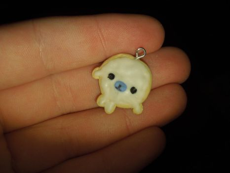 Mamegoma Cookie | Polymer Clay | PastelClayCharms by theblondeunicorn