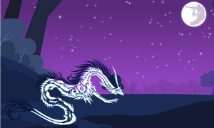 Request #104 ~ Dragon in the Night ~ by Radiant--Eclipse