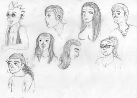 Face Study Sketches by EyonSplicer