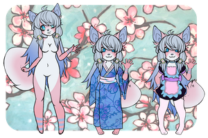 Adoptable Cherry Blossom Fox .:CLOSED :. by Pandahhs