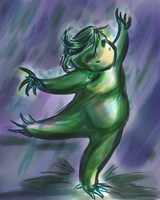 Kappa In The Rain by Caraphae