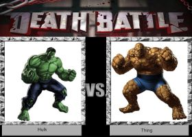 DEATH BATTLE Idea Hulk vs Thing by JefimusPrime