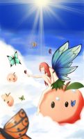 Peaches and Butterflies by ZeroExile