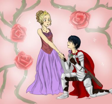 Knight and the princess by Lava-On-The-Floor