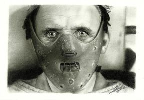 Hannibal Lecter by FaceItDrawing