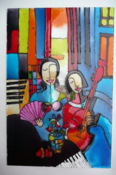 glass painting by Salonijain