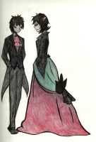 Fancystuck: Terezi and Karkat by Tamakichi