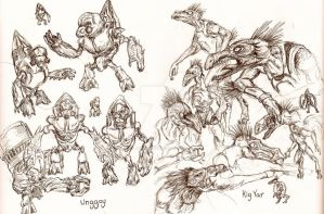 Halo graphic novel sketches 3 by jpizzle6298