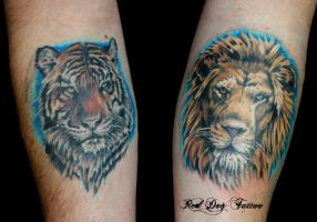 Kurts Cats by Reddogtattoo