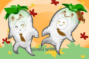 Daikon Wives by Cappuccino-King