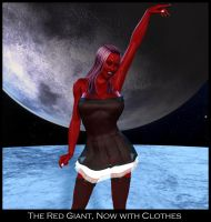 The Red Giant With Clothes by ExGemini