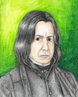 Snape portrait by Xijalle