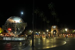 LA- Universal Studios Globe Night by elodie50a