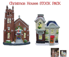 Christmas Houses STOCK PACK by KarahRobinson-Art