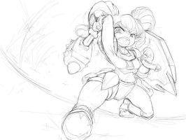 Poppy wallpaper sketch by Nestkeeper