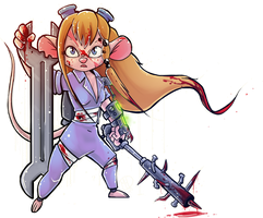 Gadget Hackwrench (Chip and Dale: Zombie Crushers) by BeshAniyZayka