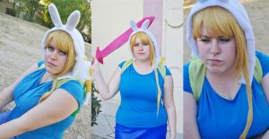 Adventure Time - Fionna and Cake by Kibamarta