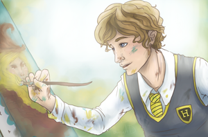 HP - Hugo Weasley and the Magical Paint by AlbinoNial