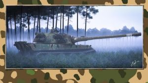 3rd Reich AltHisPzX E100 without side skirt at by PanzerBob